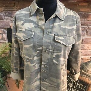 topshop camouflage jacket 6 Khaki over sized